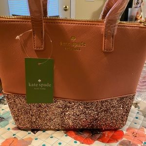 Kate Spade maryanne pink glitter purse NWT